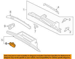 Infiniti NISSAN OEM 02-06 Q45-Glove Compartment Box Lock 68630AR200