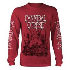 Cannibal Corpse 'Pile Of Skulls' Red Long Sleeve T shirt - NEW