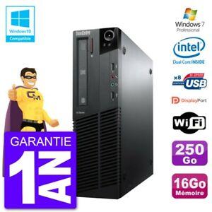 PC Lenovo ThinkCentre M82 SFF G640 RAM 16Go Disque Dur 250Go Graveur DVD Wifi W7