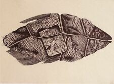 BREAM by Andrey SIMAKOV, Original ink Drawing RUSSIAN - Лещ копченый!