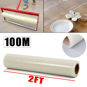 100M Carpet Floor Protector Self Adhesive Clear Roll Protector Cover Dust Party