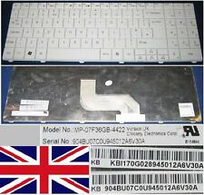 Teclado Qwerty UK GATEWAY NV52 TJ67 MP-07F36GB-4422 90.4BU07.C0U KB.I170G.028