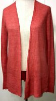 Eileen Fisher Linen Knit Open Front Cardigan Womens Size S/M