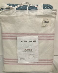 NEW Anthropologie Queen Dovet 92x96 Woven Rosewood Collection 100% Cotton