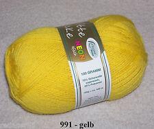 4,99�'� / 100 gr RELLANA Sockenwolle 4-fach Uni viele Farben