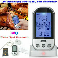 Digital Wireless Remote BBQ LCD Meat Thermometer Grill Tools & Accessories MA UK