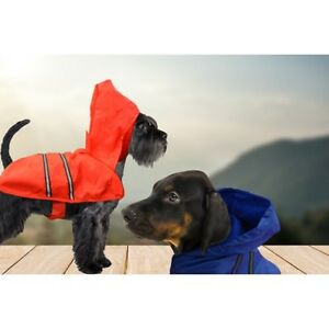 43: DCL 08 / Dogs Hooded Raincoat Lined Red or Blue