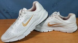 Old Vintage Mens NIKE AIR ZOOM MOIRE + 314496-171 UK 10 WHITE GOLD
