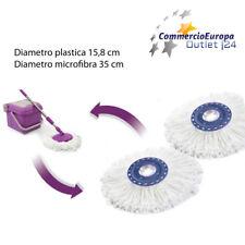 kit 2 pezzi Ricambio mocio Rotante 360 microfibra PER IL MITICO SPIN TASTIC