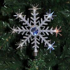Kingfisher Christmas Tree Topper Flashing LED Snowflake Light Up Colour Changing