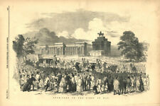 Hyde-Park on the first of May. London 1851 antique ILN full page print