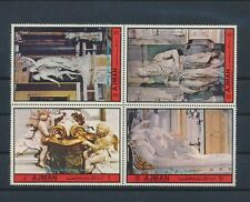 LL92998 Ajman sculptures statues art block of 4 MNH