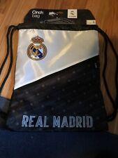 BNWT Real Madrid Cinch Bag Draw String Bag Black Grey