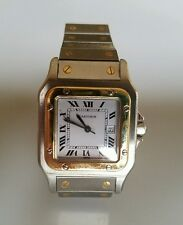 Cartier Santos Ladies Steel & 18K Yellow Gold Watch automatic women