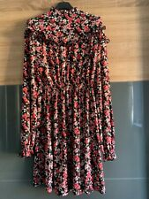 Autumn Collection Floral frill high neck mini dress - sizes 8-16