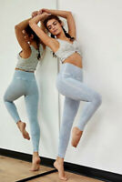 NEW Free People Movement High-Rise 7/8 Length Shanti Legging Blue M/L $97.12