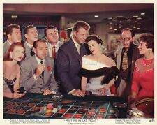 DAN DAILEY CYD CHARISSE MEET ME IN LAS VEGAS 1956 VINTAGE LOBBY CARD ORIGINAL #1