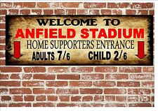 Anfield Liverpool Vintage Style Metal Sign Football  Vintage Sign