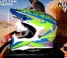 ACERBIS IMPACT Leviathan MX Helm Enduro Quad NEU XL Kawasaki KX-F RM-Z Grün Blau