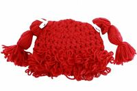 Dorfman Pacific Kindercaps Girl's Knitted Pig Tail Skully Winter Hat (Fits 4-6X)