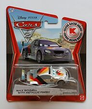 Disney Pixar Cars 2 MAX SCHNELL WITH METALLIC FINISH 1:55  New