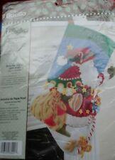 Bucilla  Stocking X stitch kit -Vintage Mary Engelbreit Santa Says Hello 86021