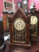 New Haven  American Steeple Clock Working Antique Strike