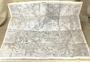 1944 Antique Map of Switzerland Ardez Fuorn Pass Ofen Mountains WW2 Graubünden