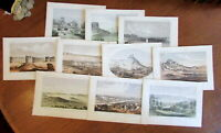 Oregon American West 1855-60 Lot x 10 fine old lithographed prints