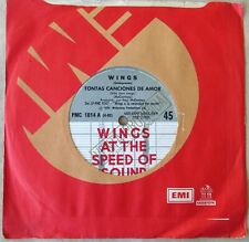 "WINGS PAUL McCARTNEY 45 PROMO Silly Love Songs SOUTHAMERICA 7"" 1976 Beatles"