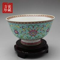 Chinese old  porcelain Pastel Patterned flower Bowls Chinese meal bowl