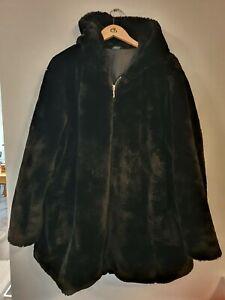YOURS Hooded Teddy Coat Size UK26/28