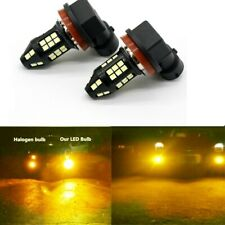 2x 100W H11 H8 H9 3000K Amber High Power 3030- LED Fog Lights Driving Bulb DRL