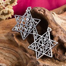 Jewish Star Of David Earrings Hebrew 12 Tribes Of Israel Magen Ethnic Jewelry