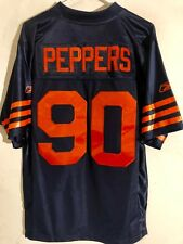 91be6bab8 Reebok Premier NFL Jersey Chicago Bears Julius Peppers Navy Throwback sz S