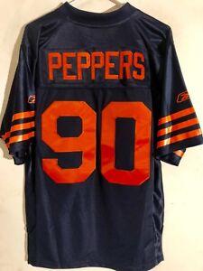 Reebok Premier NFL Jersey Chicago Bears Julius Peppers Navy Throwback sz S