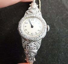 Tiffany & Co. Antique Vintage Diamond & Platinum Ladies' Watch
