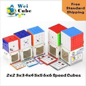 5PCS Cyclone Boys Magic Cubes 2x2 3x3 4x4 5x5 6x6 Stickerless Speed Cubes Kidtoy
