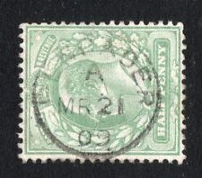 EDVII sg Sg 217 -- 1/2d green with a Welsh Pencader cds Carmarthenshire 1909