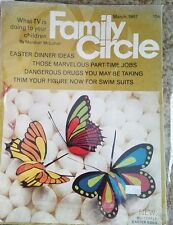 Family Circle Magazine March 1967 Easter Dinner Ideas, Butterfly what is Tv doin