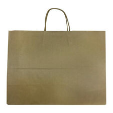 50 Pc 16 Vogue Shopping Bags Brown Kraft Paper Recycled Retail Supplies