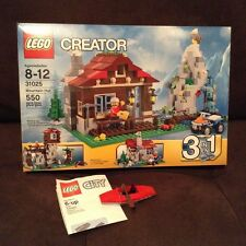LEGO 31025 CREATOR 3 MOUNTAIN HUT MISB Retired Free bricktober Kayak