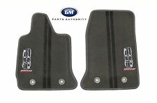2017 Corvette Grand Sport Premium Carpet Floor Mats 23384150 Black w/ Gray Trim