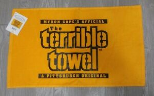 NWT The Original Pittsburgh Steelers Gold Terrible Towel Myron Cope's Official