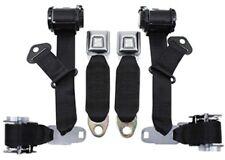1974-77 Corvette Seat Belts Dual Retractors, Pair, Economy Color:1000-Black