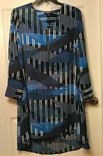 bce904edf5264 Rebel Wilson X Angels Women s Plus Size 3x Blue Waves High Low Shift Dress