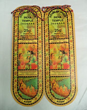 Song of India Incense Sticks: 50 Gram (40 Stick) (2 x 25 Packs) (Indian Temple)