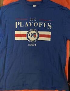 NY RANGERS 90TH ANNIVERSARY SHIRT SGA XL MSG 2017 PLAYOFFS NHL HOCKEY BUD LIGHT
