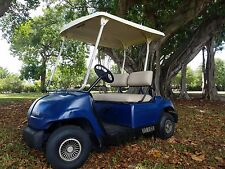 blue yamaha gas 2 passenger seat golf cart car