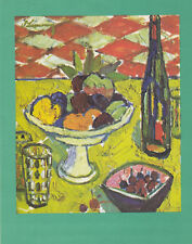 "Paquebot ""FRANCE"" Luncheon Menu , 1960s ; Flowers #3"